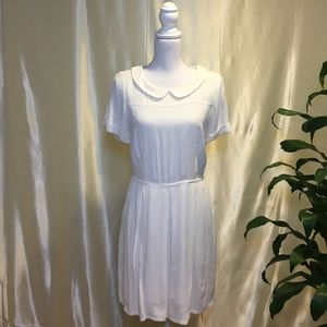 Madewell White Collared Dress